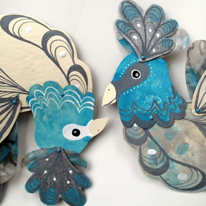 Ben Conservato #makeforgood Articulated bird paper doll AU$47 - Etsy