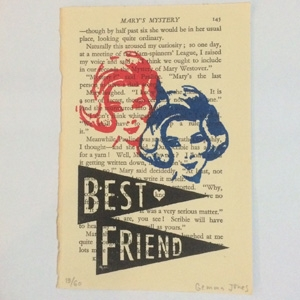 Gemma Jones Best friend limited edition gocco print AU$40.56 - Etsy
