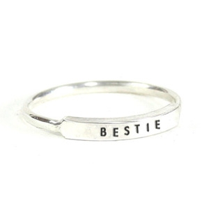 Christina Kober BESTIE message ring AU$64.34 - Etsy