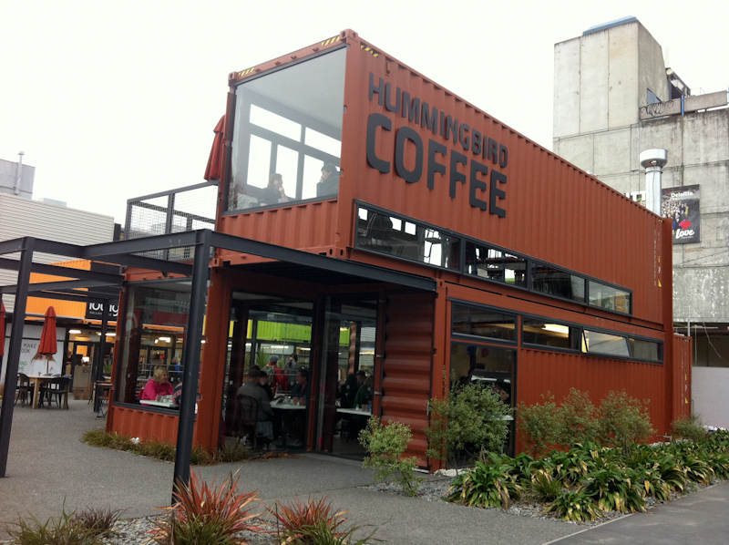 Re start shipping container village in christchurch via we for Village craft container home