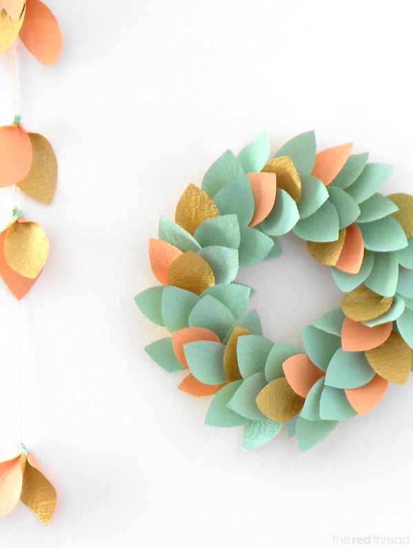 Tutorial Make A Paper Wreath We Are Scout