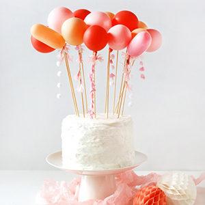 Tassel ballon cake topper