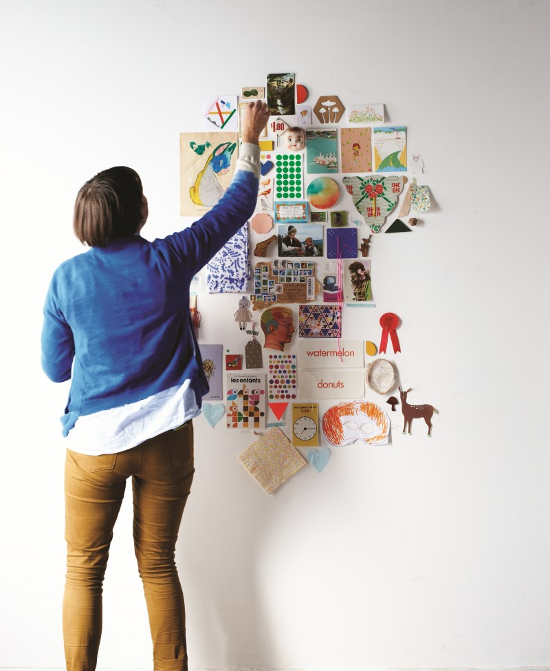 Find and Keep inspiration wall by Beci Orpin via we-are-scout.com