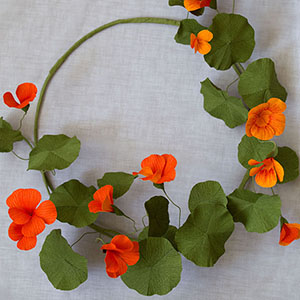 We Are Scout craft tutorials Paper nasturtium wreath