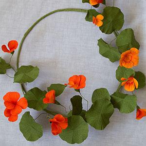 We Are Scout craft tutorials Paper nasturtium wreath