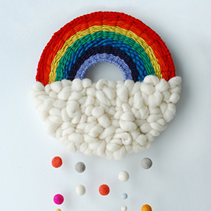 Make a rainbow weaving