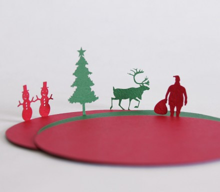 Christmas coasters by Uponafold via we-are-scout.com