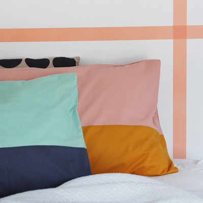 make your own COLOUR BLOCK PILLOWCASES pillow shams