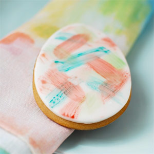 Watercolour Easter egg cookies