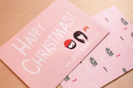 Ello There Christmas cards via we-are-scout.com