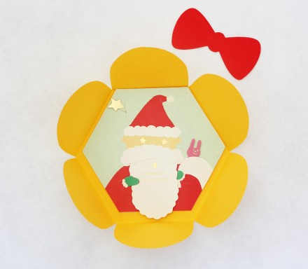 Santa card by Uponafold via we-are-scout.com