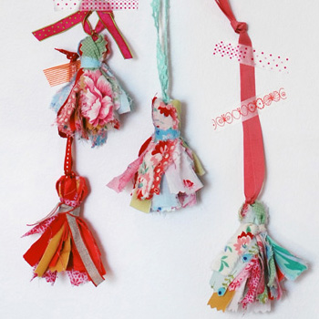 how to make tassels from scrap fabric