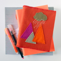 how to make a felt book cover