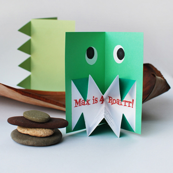 POP UP DINOSAUR INVITES