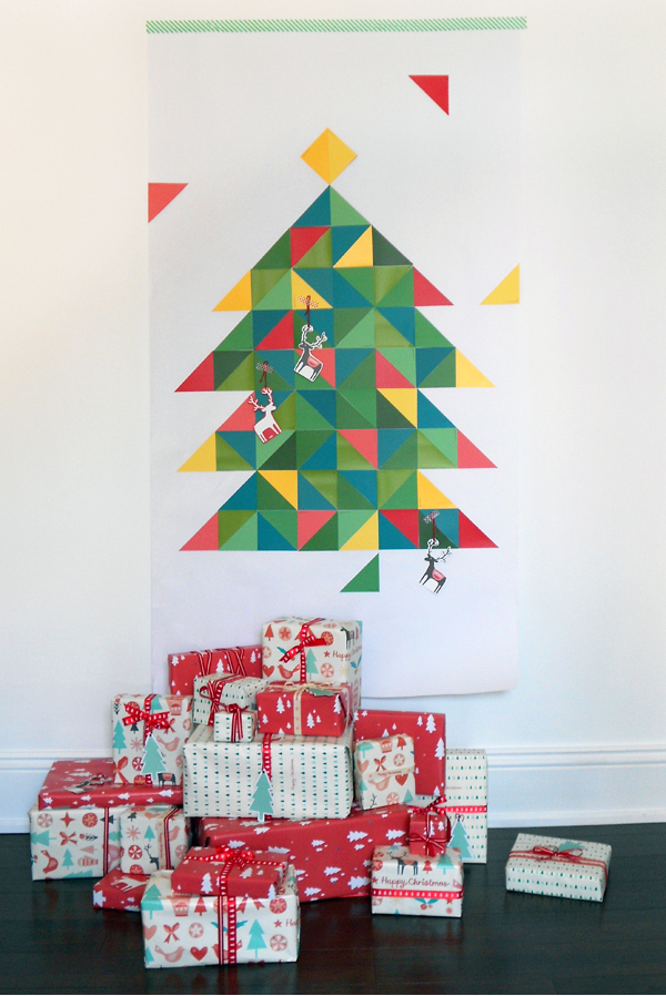 Make A Geometric Paint Chip Christmas Tree We Are Scout