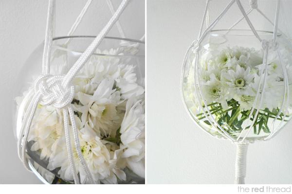 Macrame hanging vase tutorial