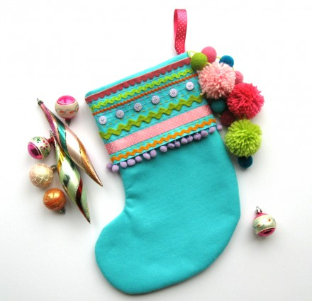 Crafttuts+ Felt Christmas Stocking Tutorial via we-are-scout.com