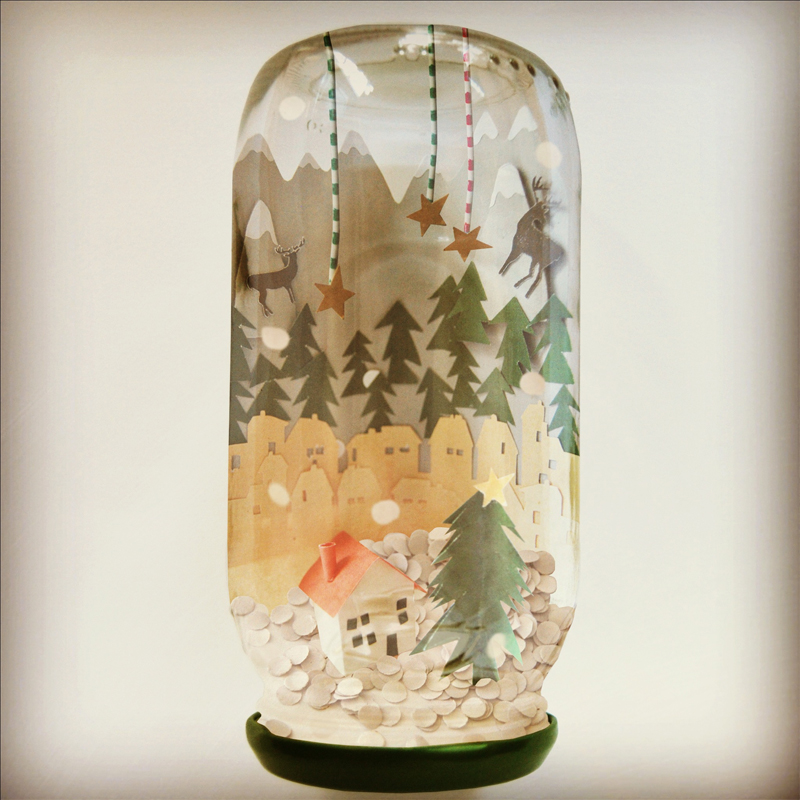 Crafttuts+ Snow Globe Tutorial via we-are-scout.com