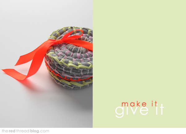 MAKE IT | GIVE IT :: Fabric Coil Coasters - We Are Scout