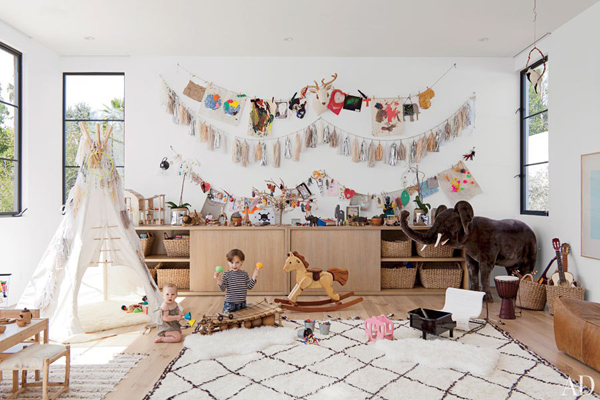 AD childs bedroom via the red thread