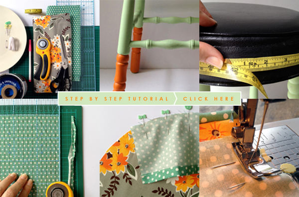 THE RED THREAD STOOL MAKEOVER TUTORIAL LINK