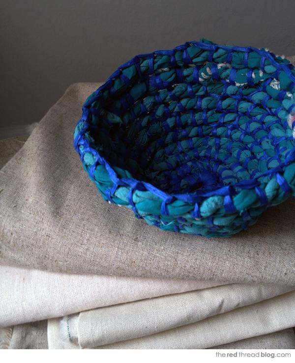 the red thread coil bowl indigo