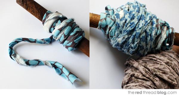 the red thread fabric yarn making