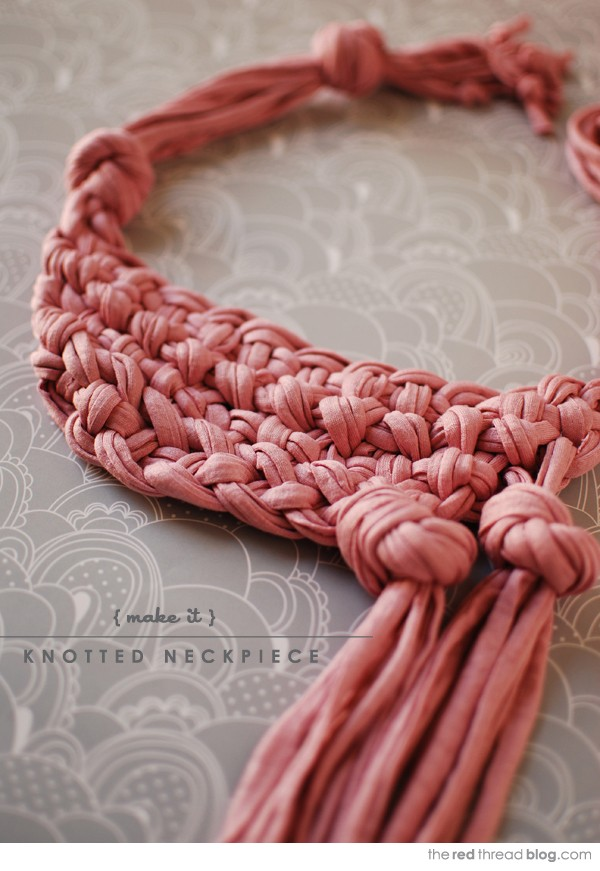 How to make a knotted macrame neckpiece / necklace