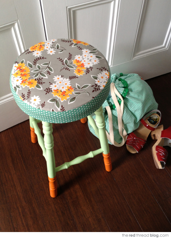 TUTORIAL :: How to makeover a boring stool - We Are Scout