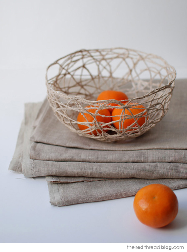 DIY sculptural string bowl tutorials