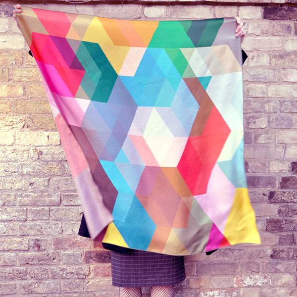Cuben scarf via the red thread