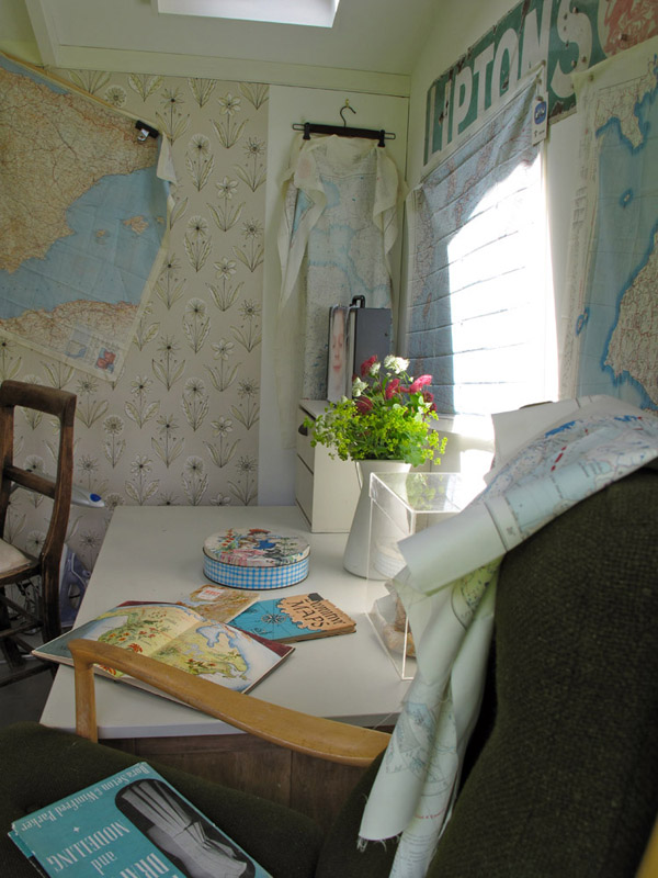Penny Leaver Green studio interior 2 via the red thread