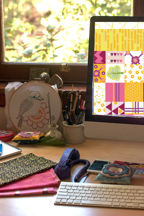 Saffron Craig desk via the red thread
