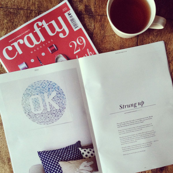 the red thread in crafty mag