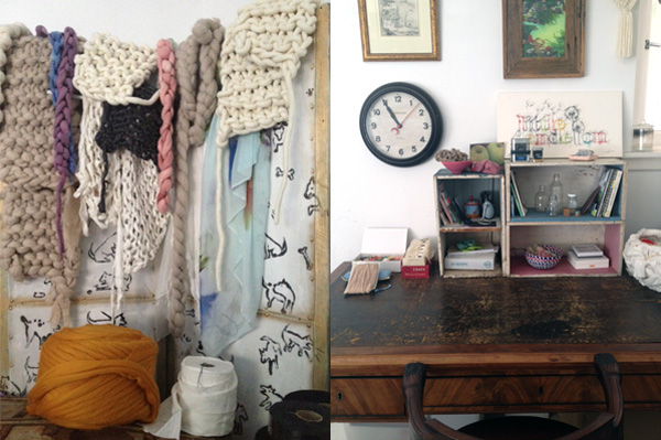 Jac Fink workspace via the red thread
