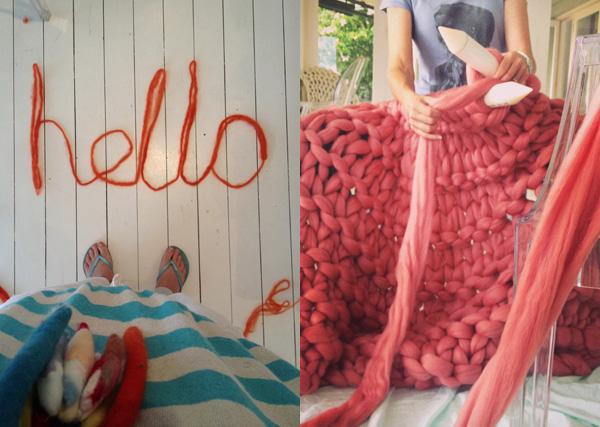 Little Dandelion fiber via the red thread