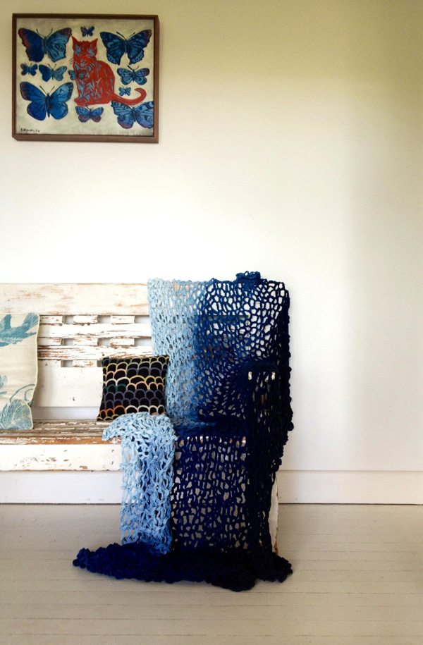 little dandlion linen shibori throw