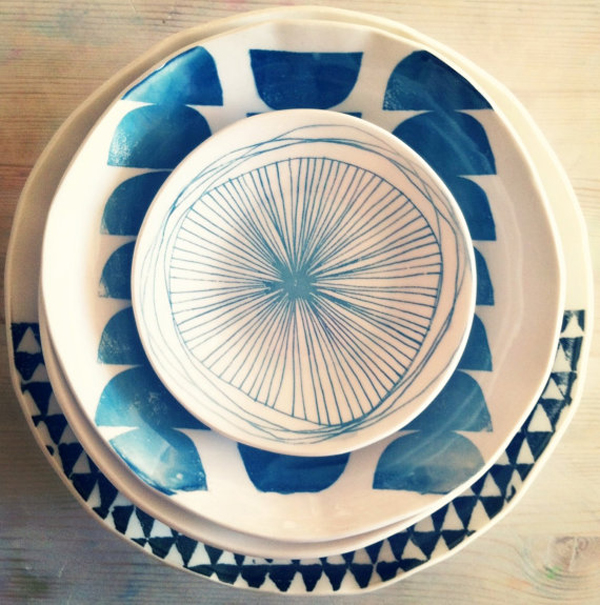 mb art studios via the red thread - stack dishes