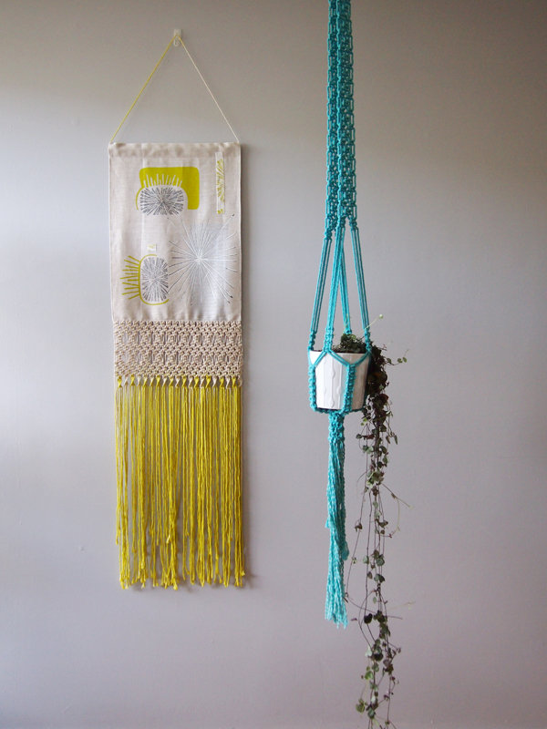 Ouch Flower macrame via the red thread blog