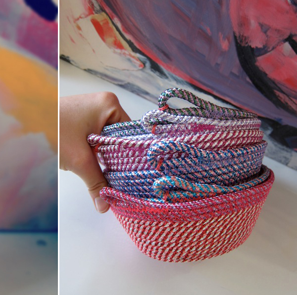 Alex Falkiner baskets via the red thread