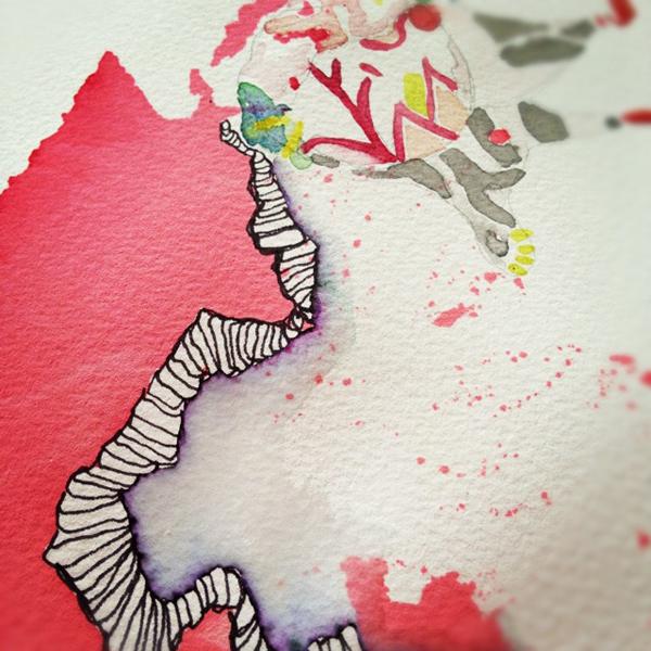 Alex Falkiner watercolour via the red thread
