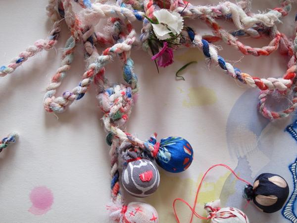 Alex Falkiner work via the red thread