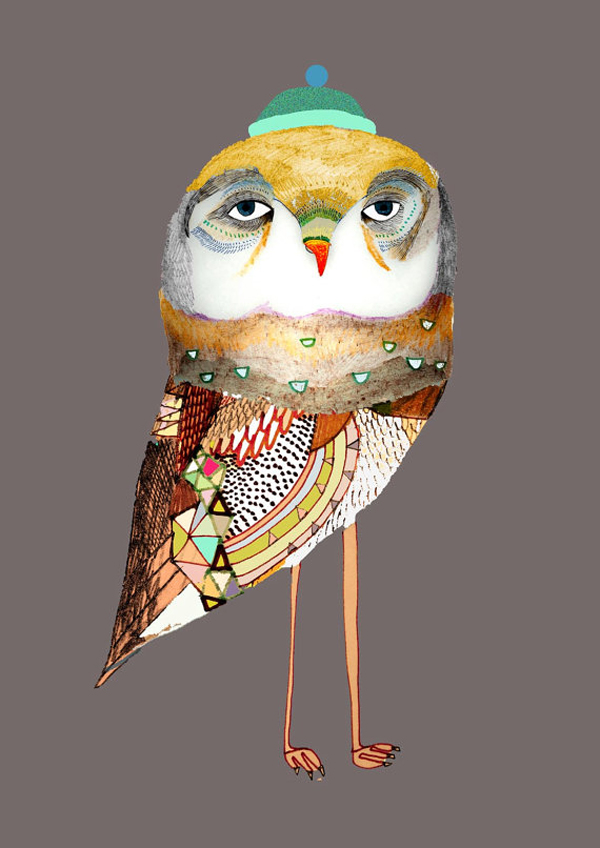 Ashley Percival owl via the red thread