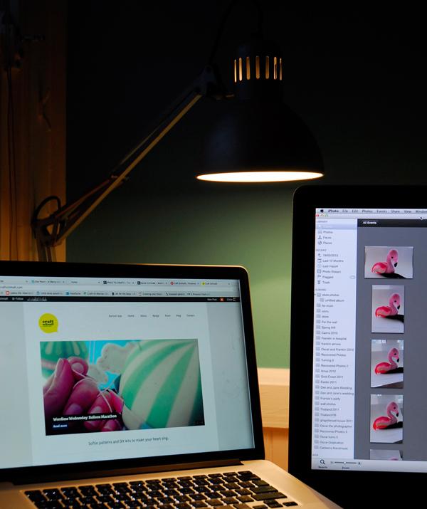 Craft Schmaft laptop via the red thread