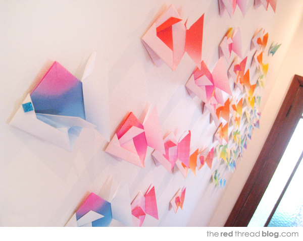 Origami wall decor | DIY tutorial quick and easy | Paper folding ... | 478x600