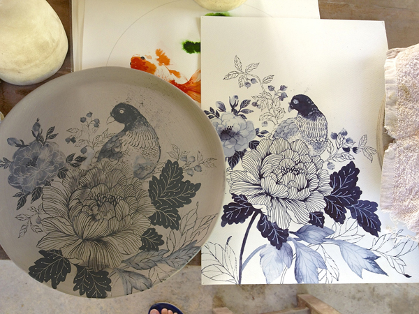 Chris Chun ceramics via the red thread