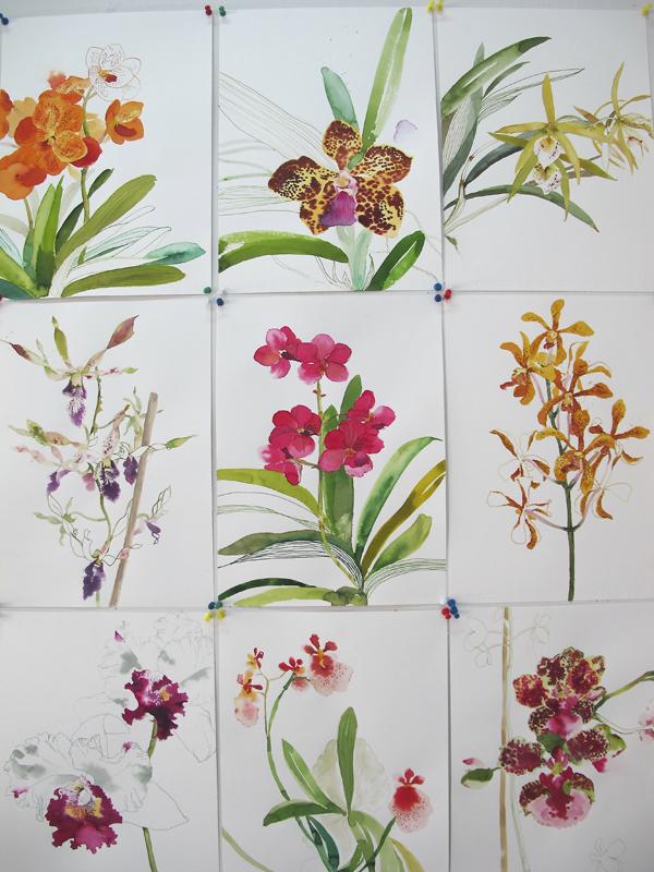 Chris Chun flowers via the red thread