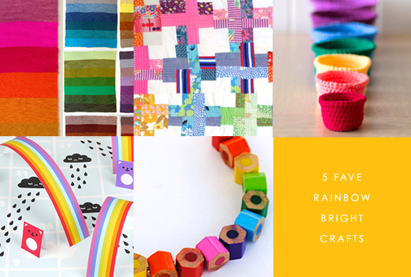 rainbow crafts via the red thread