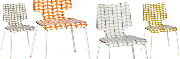 Orla Kiely stacking chairs via the red thread