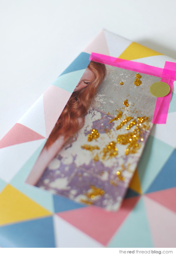 the red thread gift tag glitter copy